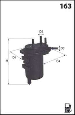 MECAFILTER Filtr paliwa ELG5354