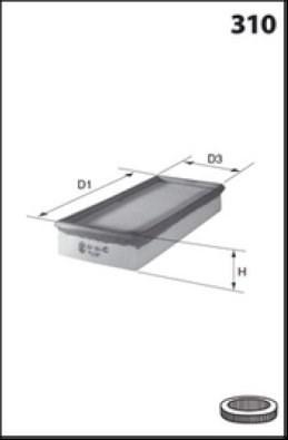 MECAFILTER Filtr powietrza ELP3730