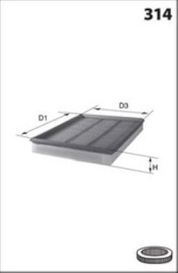 MECAFILTER Filtr powietrza ELP3958