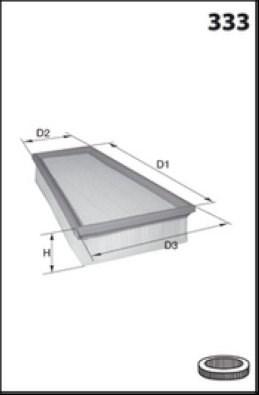 MECAFILTER Filtr powietrza ELP3919