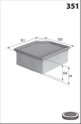 MECAFILTER Filtr powietrza ELP9061