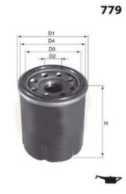 MECAFILTER Filtr oleju ELH4233