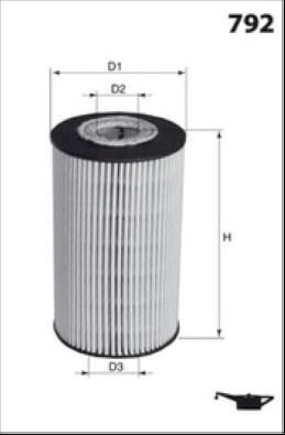 MECAFILTER Filtr oleju ELH4235