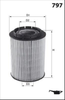 MECAFILTER Filtr oleju ELH4339