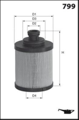 MECAFILTER Filtr oleju ELH4390