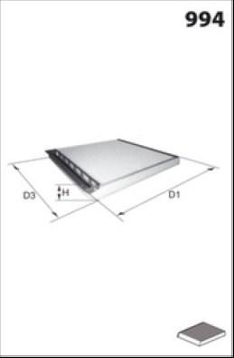 MISFAT Filtr, wentylacja przestrzeni pasażerskiej HB116